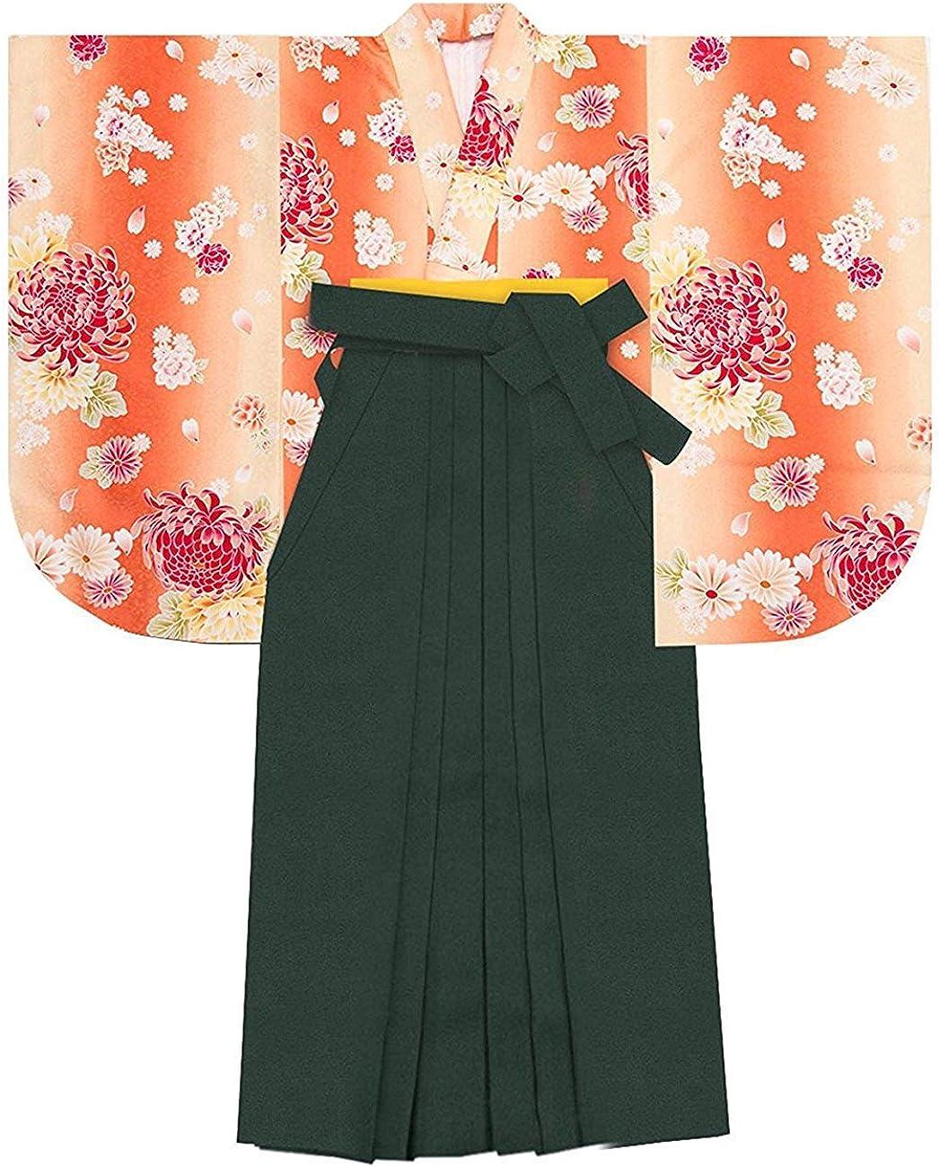 Japanese Women/'s Kimono Embroidery Gradation HAKAMA Skirt Ocean A From Japan EMS