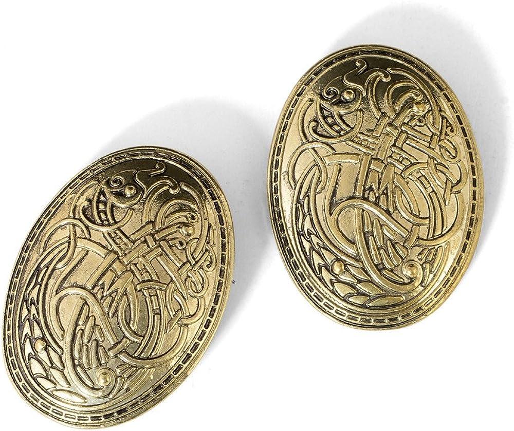 Amazon.com: idavallen - Broche de dragón celta vikingo, 2 ...
