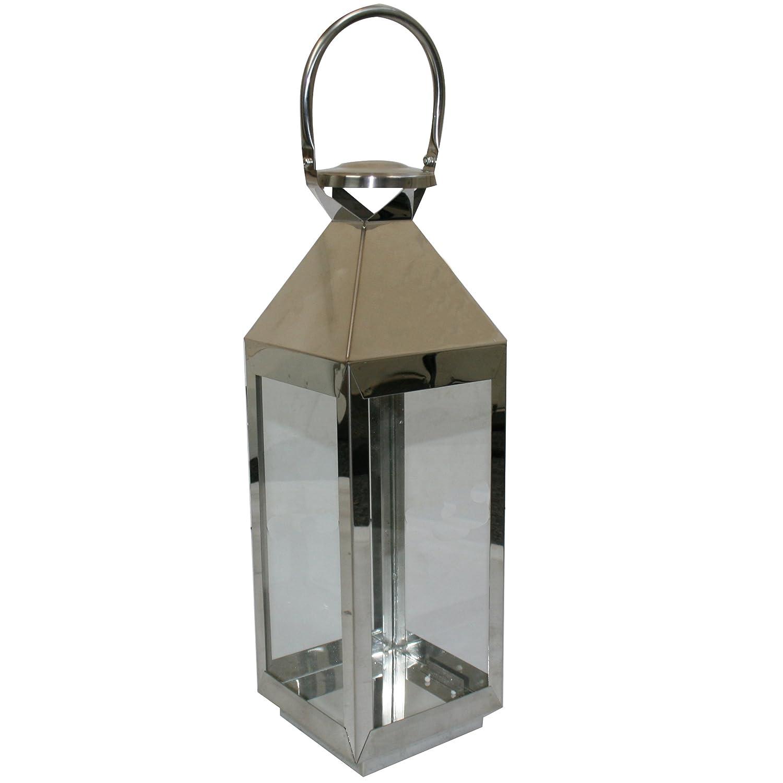 JVL Pair Of Stainless Steel Hampton Indoor/ Outdoor Candle Light Lanterns,  55 X 16 X 15cm: Amazon.co.uk: Kitchen U0026 Home