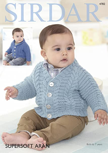 8f45d4a07774 Sirdar 4782 Knitting Pattern Baby Boys Cardigans in Sirdar Supersoft ...