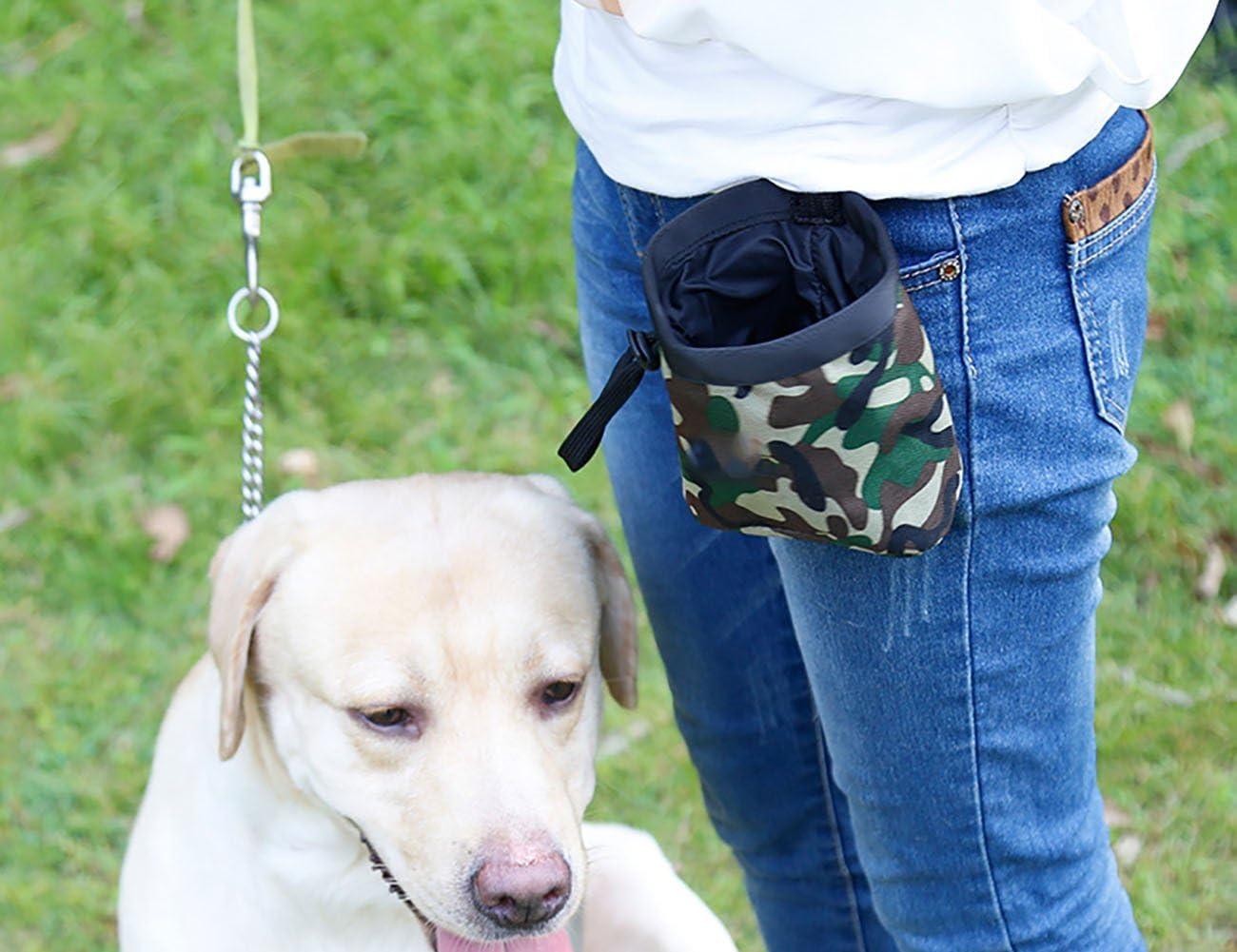 for Carries Pet Toys Uheng Dog Treat Training Pouch /¨C Built-In Poop Bag Dispenser Treats Kibble Key Pet Snack Bag /¨C Clip on Waist