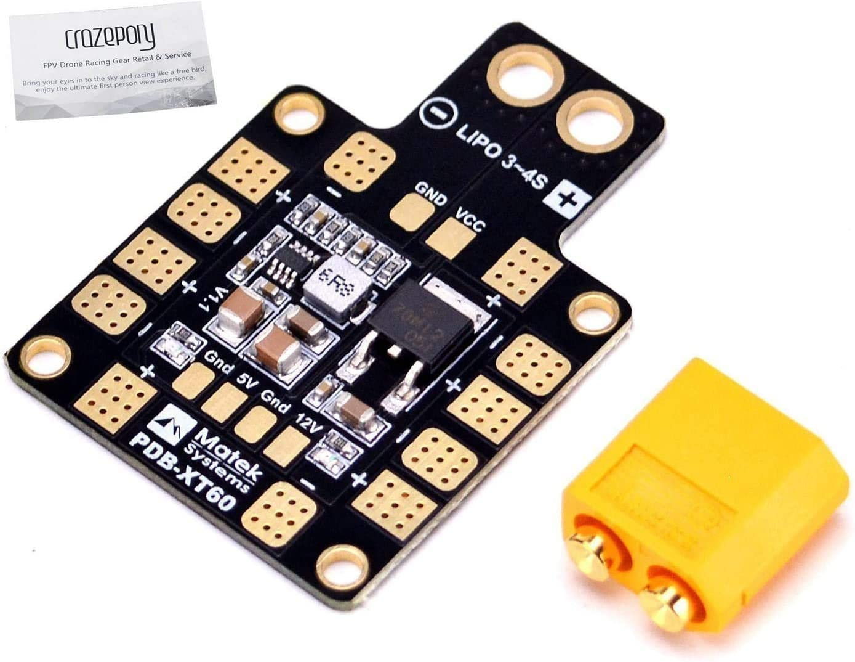 Hootracker Matek XT60 PDB Power Distribution Board 5V 12V BEC Output Support 6 ESC for X or H Design