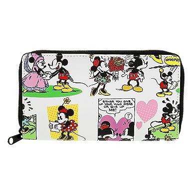 Disney Mickey Mouse Cartoon - Cartera de embrague, color blanco: Amazon.es: Ropa y accesorios