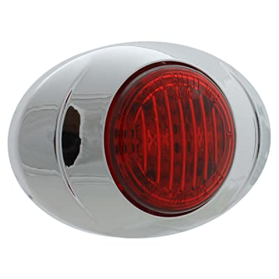 Vehicle Safety Manufacturing 3005 ML3K Red LED Marker Lamp with Chrome Bezel: Automotive