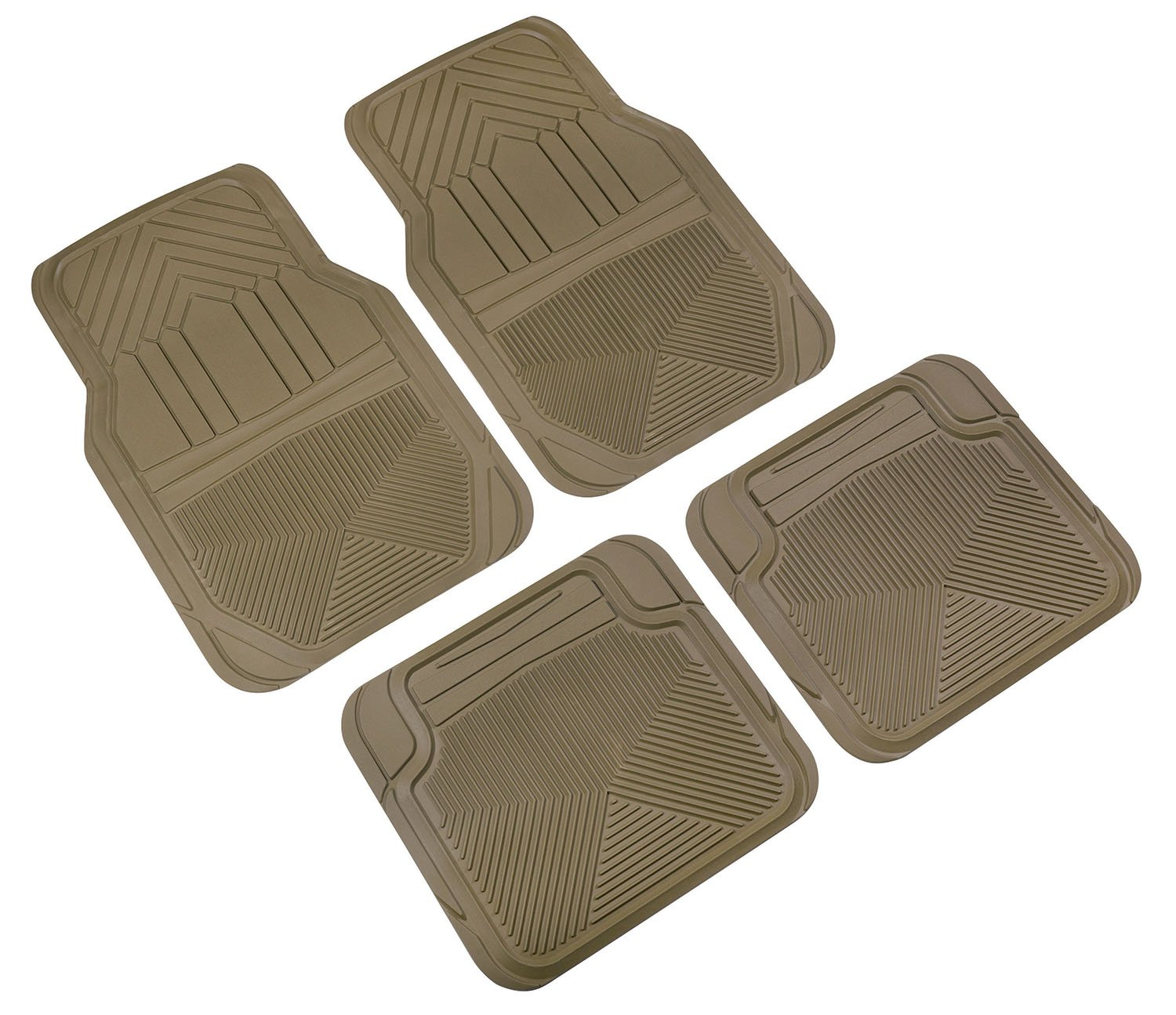 Highland 4447800 Weather Fortress Tan Premium Synthetic All Weather Floor Mat 4 Piece
