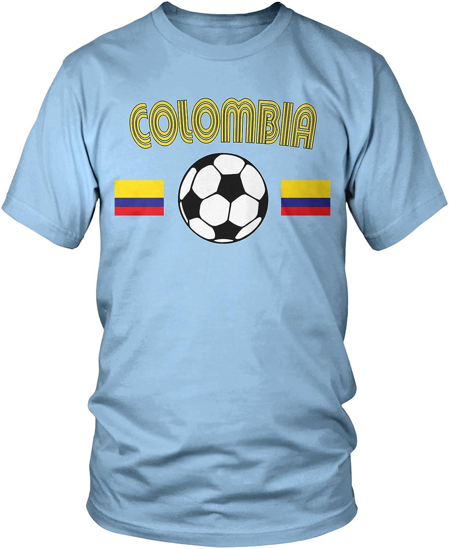 Amdesco Colombia Soccer, playera de fútbol colombiano para hombre - Azul - Medium: Amazon.es: Ropa y accesorios