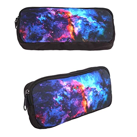 452dea3cacc3 LedBack 3D Galaxy Pencil Case for Boys Star Pen Holder with Zipper Children  Back to School Big Capacity Pencil Pouch Student Sturdy Polyester ...