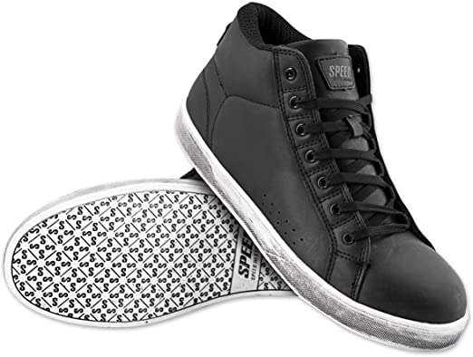 Speed /& Strength Men/'s Soul Shaker Leather Street Motorcycle Riding Moto Shoes