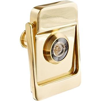 Rockwood 614v 4 Brass Door Knocker With Door Viewer 2 1 8