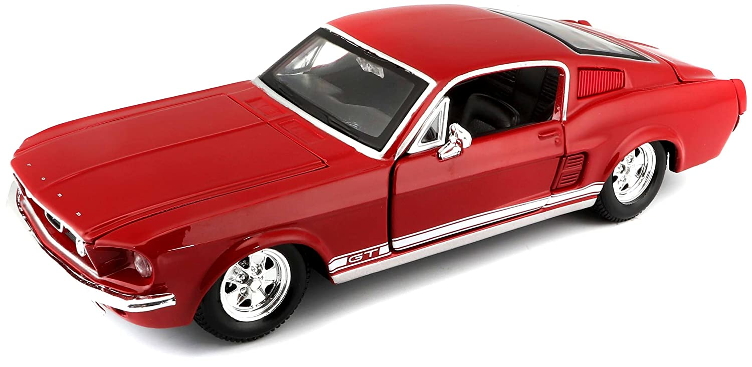Maisto 1 24 Scale 1967 Ford Mustang GT Diecast Vehicle Red