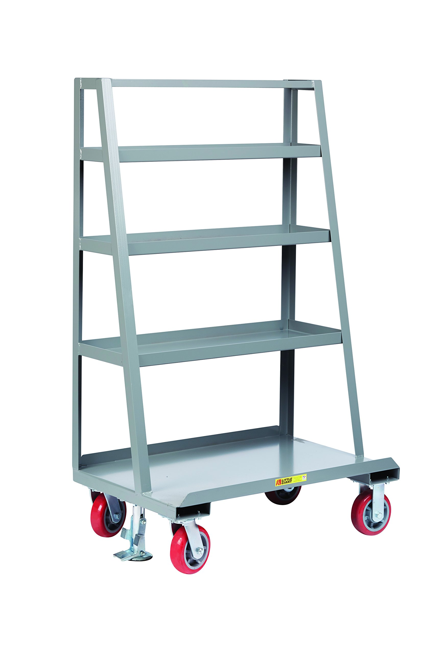 Little Giant AF4S-2436-6PYFL A-Frame Sheet and Panel Truck with Back Shelf Storage, 2000 lb. Capacity, Gray