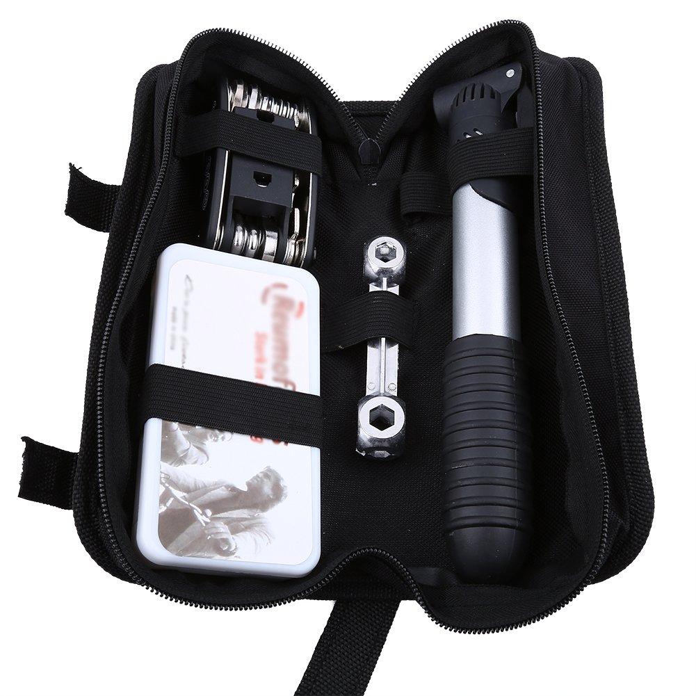 Bicycle Repairing Tool Kit Set, Multi-Functional Lightweight Bike Tyre Repair Kit Bag Patch Pump
