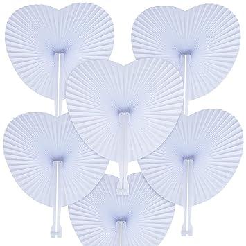 Amazon.com: WOWOSS - Abanicos de papel para boda: Toys & Games