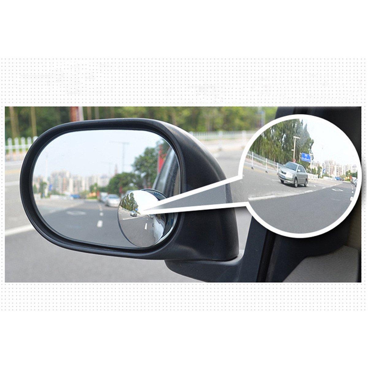 2 St/ück Auto Blind Punkt Spiegel Breit Winkel Rahmenlos Ultra D/ünn Klebrig Universal Runden Spiegel