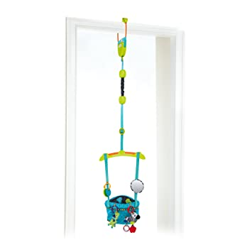 Amazon.com : Bright Starts Bounce \'N Spring Deluxe Door Jumper, Blue ...