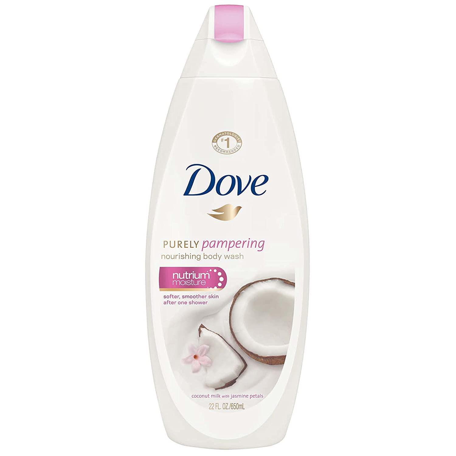 Amazon Com Dove Purely Pampering Body Wash Coconut Milk With Jasmine Petals 22 Oz Pack Of 2 Bath And Shower Gels Beauty