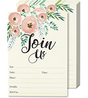 Amazon Com 50 Blank Gold Floral Rsvp Cards Rsvp Postcards