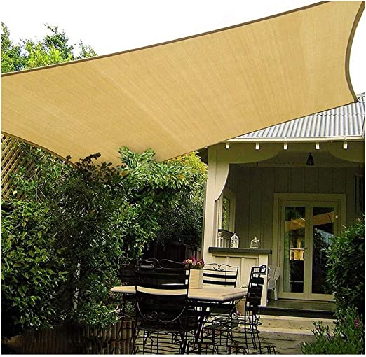 Sombrilla de jardín Vela 3x3m 4x5m Rectángulo 95% UV Sombrilla de Vela Sombra Impermeable Sombra al Aire Libre Red de Protección Solar para terraza Pérgola Patio Trasero Actividades Toldo: Amazon.es: Hogar