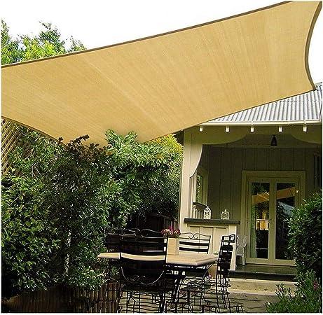 Toldo Vela Sombrilla de jardín Vela 3x3m 4x5m Rectángulo 95% UV Sombrilla de Vela Sombra Impermeable Sombra al Aire libre Red de Protección Solar para terraza Pérgola Patio trasero Actividades Toldo T: