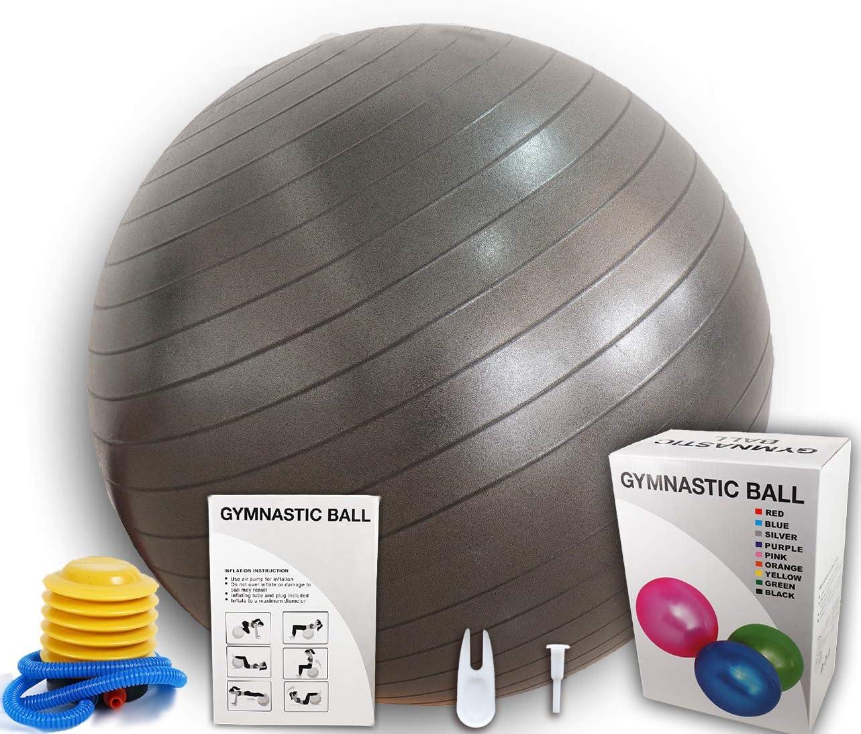 Anti-Burst 65CM Fitness Swiss Ball for Gym Yoga Pilates Pregnancy Birthing Pump