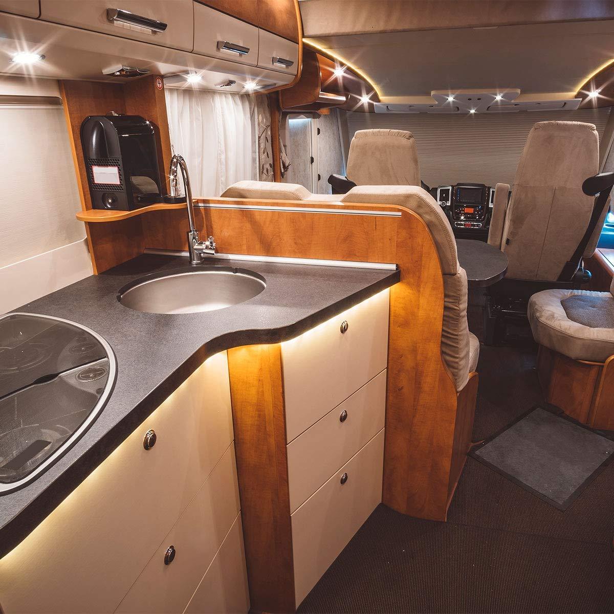 Motorhome Sailboat,Yacht 4000K Neutral White ALOVECO LED RV Boat Interior Light 12V LED RV Ceiling Lighting Fixture for Camper /… 4 Pack