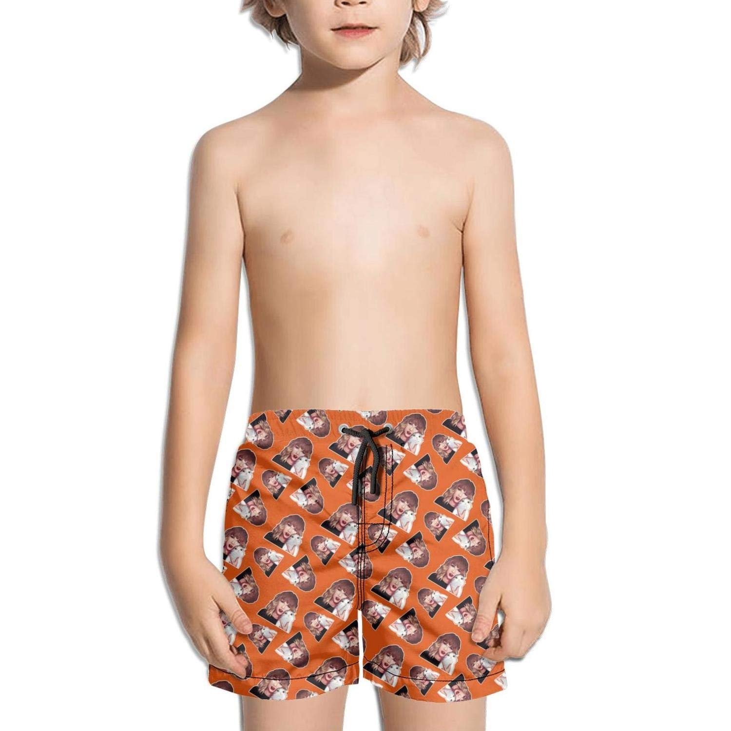 kattyy1 Kids Beachwear Slim Fit Solid Board Swimming Trunks Shorts