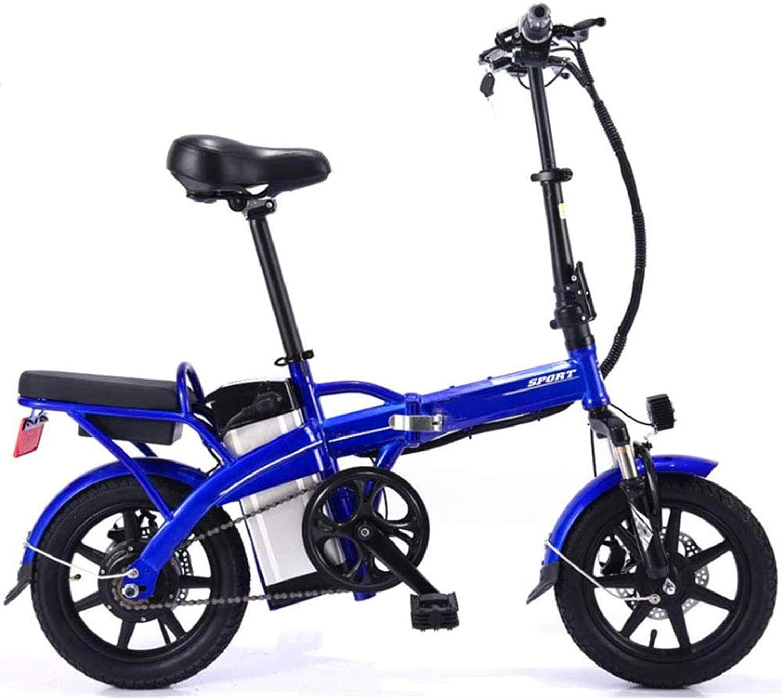 Bicicletas Eléctricas, Adultos bicicleta plegable eléctrica, con 350W Motor 14 Pulgadas pedaleo asistido E-Bici Frenos de doble disco extraíble de la batería con el teléfono móvil del soporte del viaj