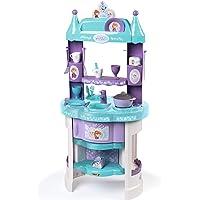 Smoby 311701 Frozen Elsa, Anna och Olaf lekkök i frostad design med många tillbehör, flerfärgad