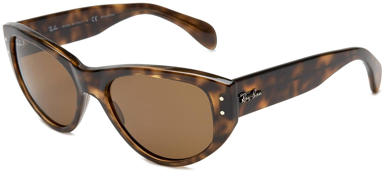 3f9eba2991 Ray Ban Women s Rb4152 Vagabond Light Tortoise Frame Brown Polarized Lens  Plastic Sunglasses  Amazon.co.uk  Clothing