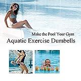 Zeyu Sports Aquatic Exercise Dumbbells - Set of 2 - For Water Aerobics, Pink/Grey