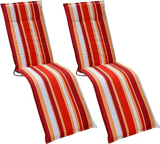HVI GENF A821-2 Cojines para sillones de jardín, Color Rojo: Amazon.es: Jardín