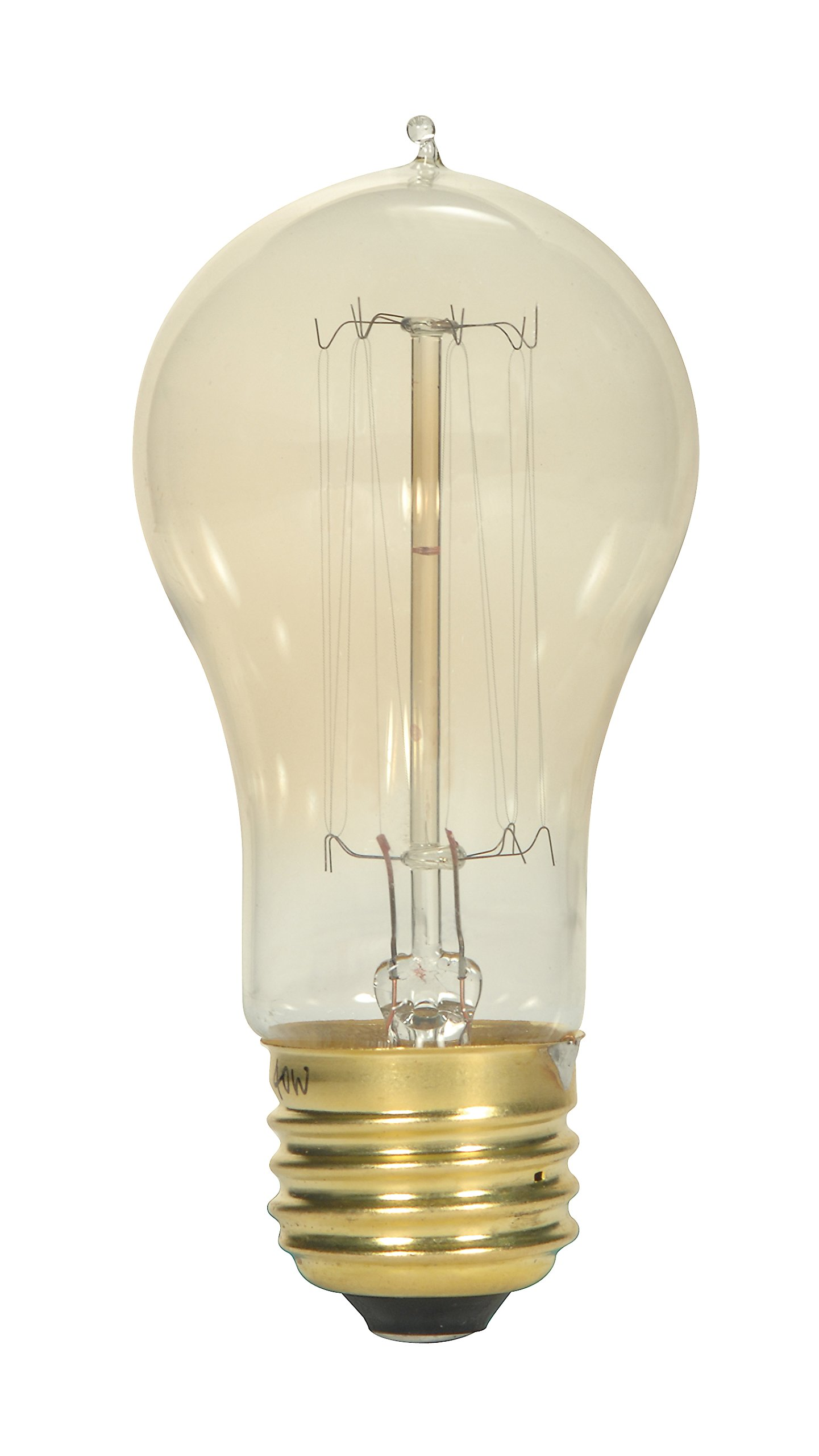 Satco S2424 40 watt A15 Incandescent; Clear; 3000 Average Rated Hours; 160 lumens; Medium Base; 120 Volts 50-Pack