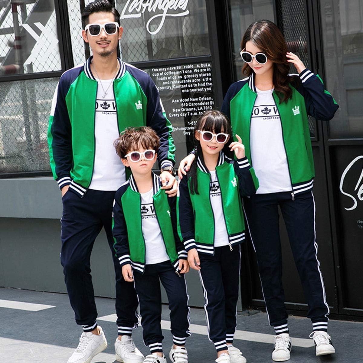 OnlyAngel Boys Tracksuits Stripes Zipper Jacket /& Elastic Waist Pant Set Age 3-12