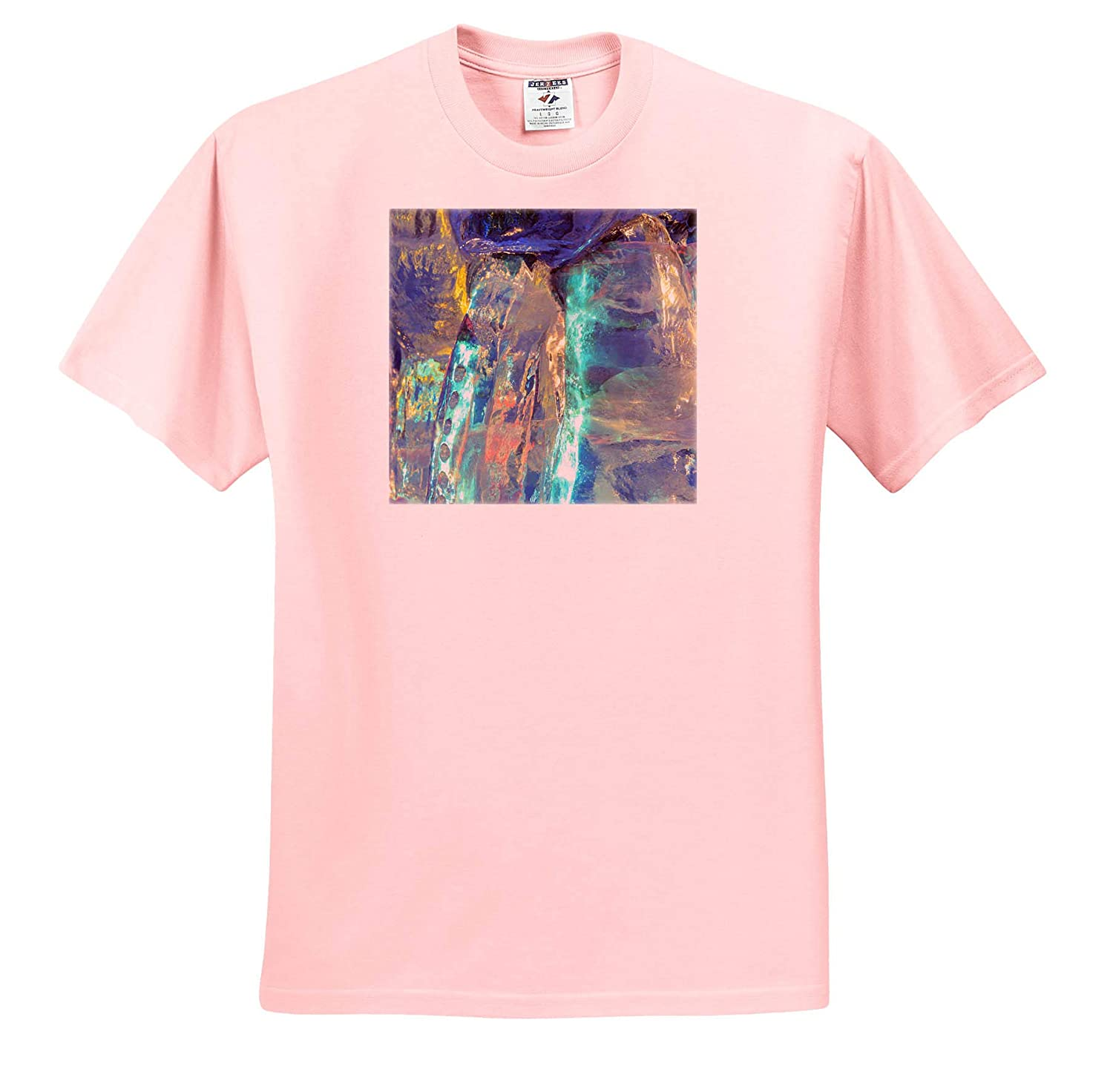 Abstracts Colorful Patterns and Textures of ice Blocks 3dRose Danita Delimont ts/_314529 - Adult T-Shirt XL