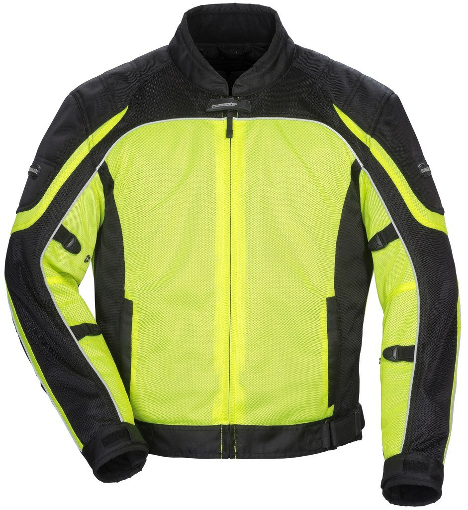 Tour Master Intake Air Series 4 Women's Textile Sports Bike Racing Motorcycle Jacket - Hi-Viz Yellow/Black / Large by Tourmaster