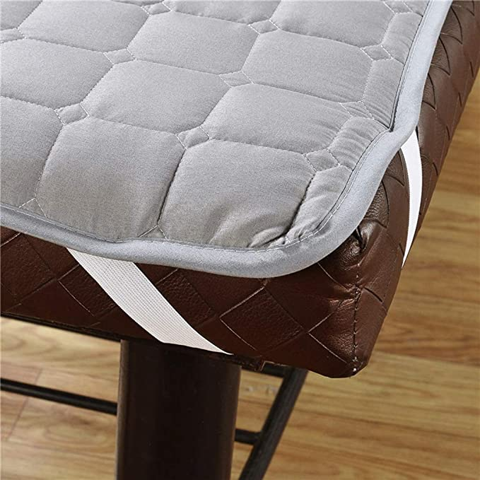 Flameer Facial Massage Table Bed Cover Mattress Pad for Beauty Salon with Face Hole Beige Elastic Fix Bands on Four Angles