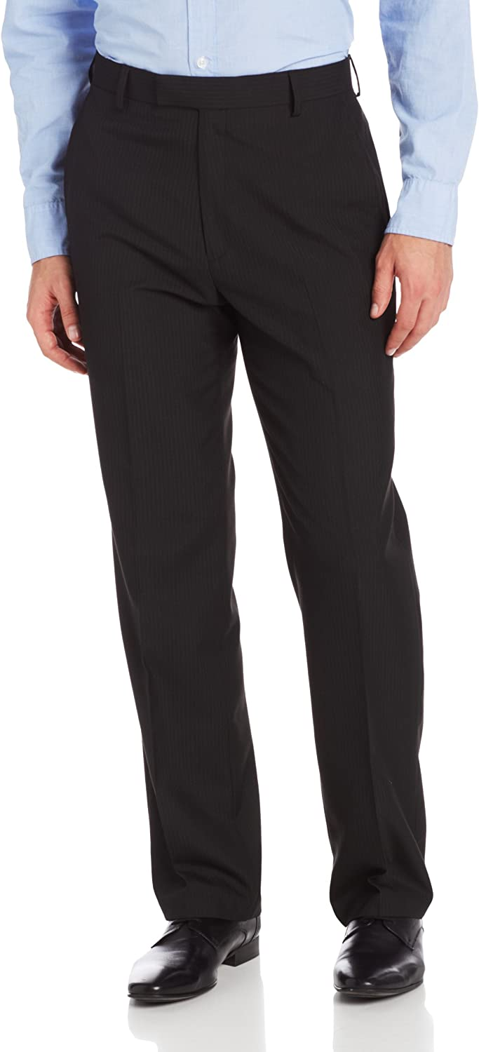 Haggar Men's Stripe Tailored-Fit Plain-Front Suit-Separate Pant