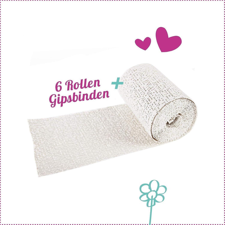 Babybauch Gips Abdruck-SET Bauch Gipsabdruck 6 Rollen Gipsbinden Verband Basteln
