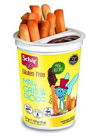 Dr. Schar Milly Gris & Ciocc - Palitos con chocolate SIN GLUTEN - 52 gr