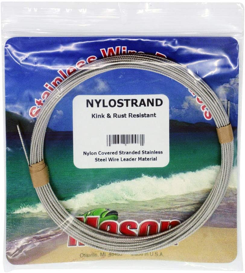 environ 9.14 m environ 40.82 kg Mason BNSR 90 nylostrand Noir Nylon Enduit 7 Strand Wire Test 90 LB 30 Ft 25847