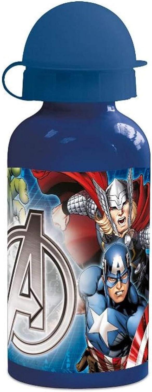 Marvels Avengers - Termo de aluminio con tapa, 400 ml
