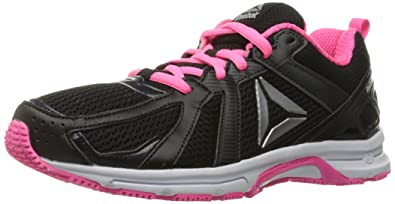 fa00a7a47 Reebok Women s Runner Walking Shoe Coal Black Poison Pink White Silver 6
