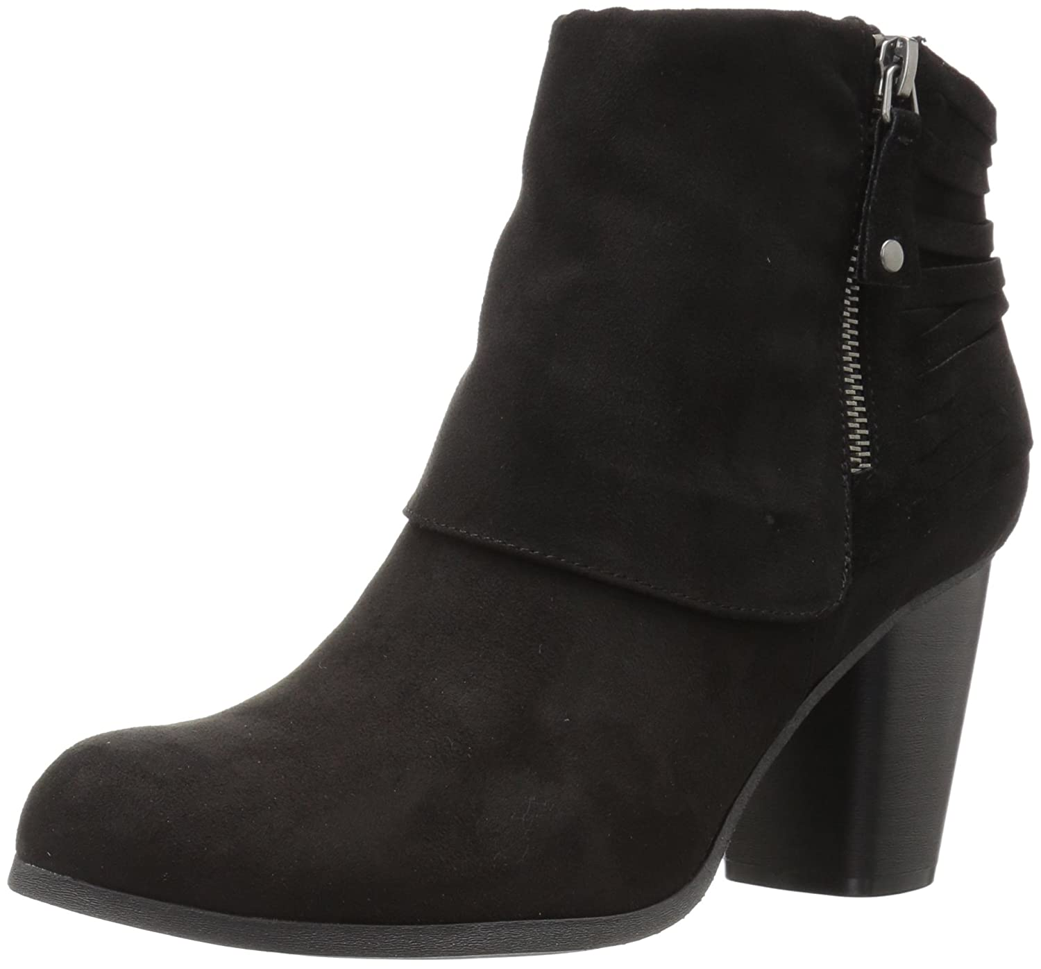 Madden Girl Women's Destory Ankle Bootie B06XJFF9N3 6 M US|Black Fabric