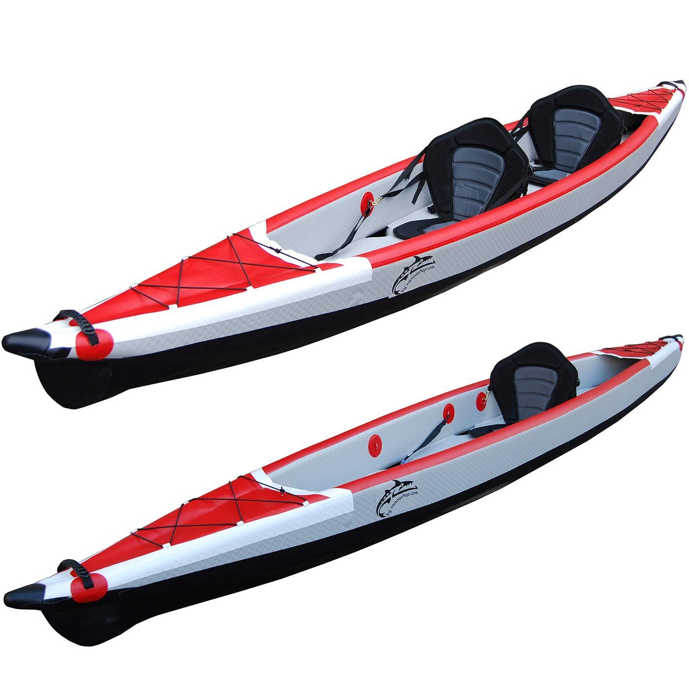 Canoa Kayak Hinchable de Dos plazas Drop Stitch de Alta ...
