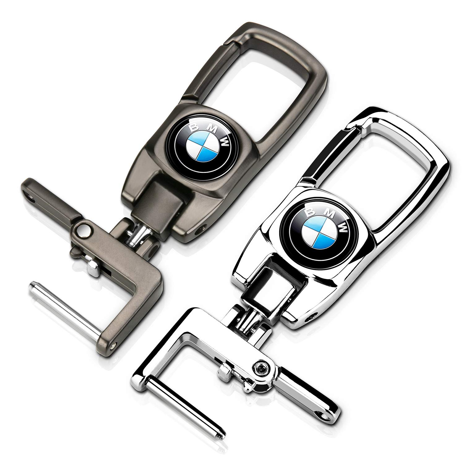 Goshion 2Pack Car Logo Keychain Suit for BMW 1 3 5 6 Series X5 X6 Z4 X1 X3 X7 7 Series M Key Chain Keyring Family Present for Man and Woman