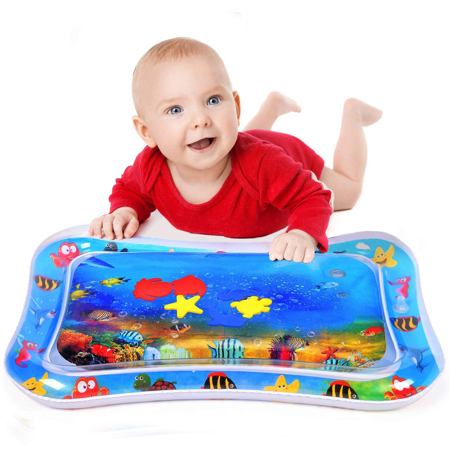 Raxoon Infants & Toddlers Tummy Time Water Mat, Perfect Toys for Your Baby's Stimulation and Growth by Raxoon (Image #4)