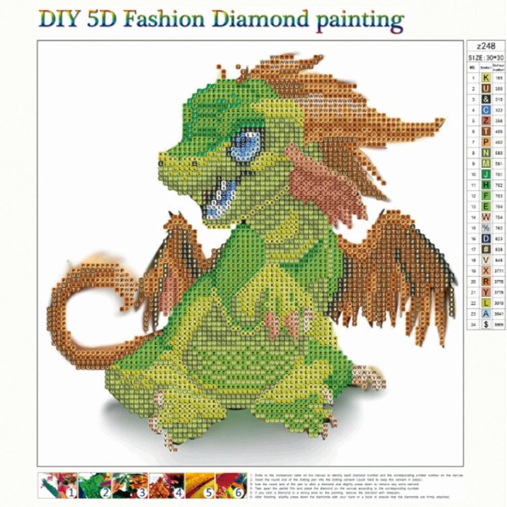 DIY 5D Cute Animal Diamond Painting,Jchen(TM) Home Decor Craft 5D DIY Diamond Painting Kit Pasted DIY Diamond Painting Cross Stitch by Jchen Diamond Painting (Image #2)