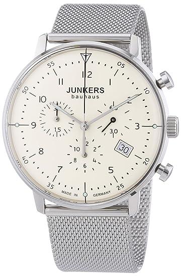 Junkers Bauhaus - Reloj, correa de acero inoxidable
