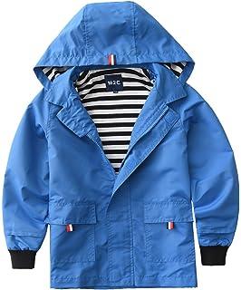 b486e2a93583 Amazon.com  Hiheart Boys Girls Waterproof Hooded Jackets Cotton ...