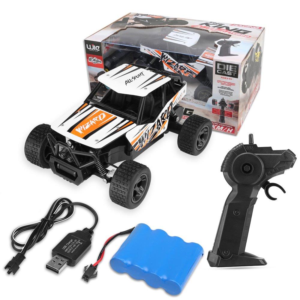 KINGBOT 1:18 /Échelle 2.4 GHz Haute Vitesse Radio Contr/ôle Rock Hors-Route Voitures T/él/écommande de Course Camions Voiture RC